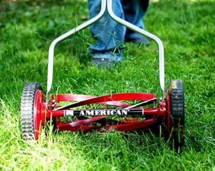 5-blade push reel lawn mower
