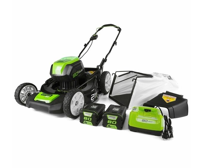 Greenworks 80V Cordless Lawn Mower Package
