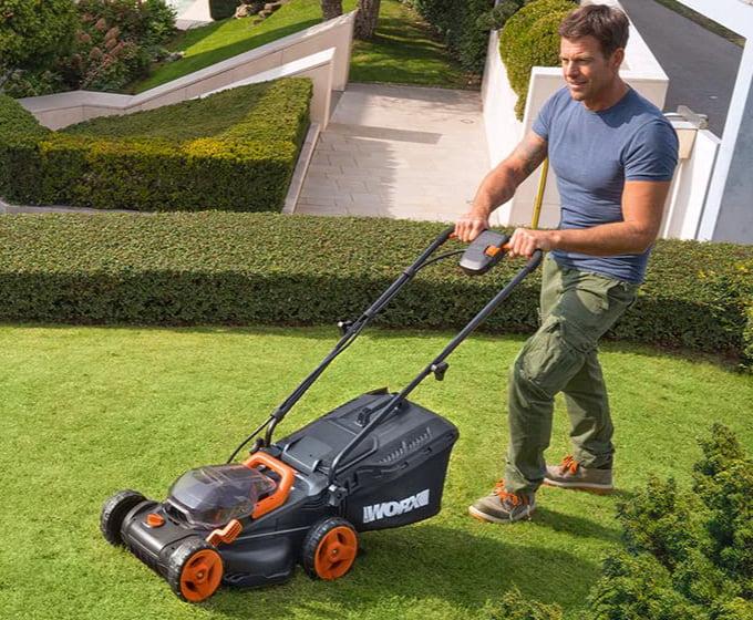WORX WG779 2x20V 14-Inch Cordless Lawn Mower
